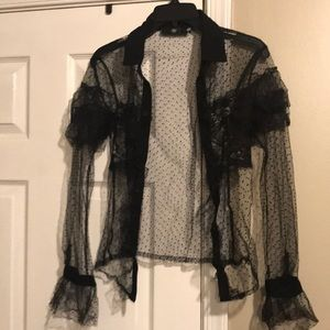 Sheer blouse size 2